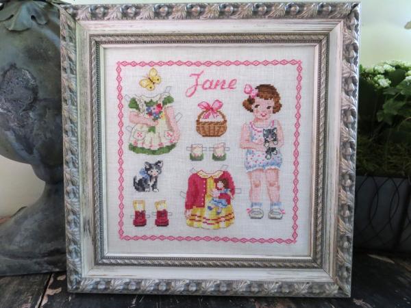 Fiche paper doll Jane