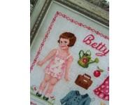 Paper doll Betty Fiche