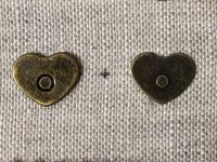 Aimant Cœur Bronze