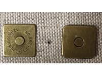 Aimant carré Bronze