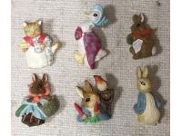 Boutons Peter Rabbit lot de 6 boutons