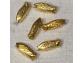 Boutons Cigales doré - lot de 6