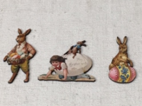 Pâques - Lot de 3 figurines