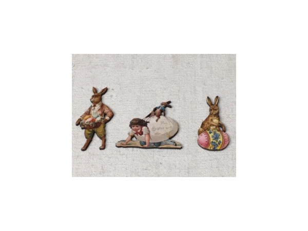 Pâques - Lot de 3 figurines