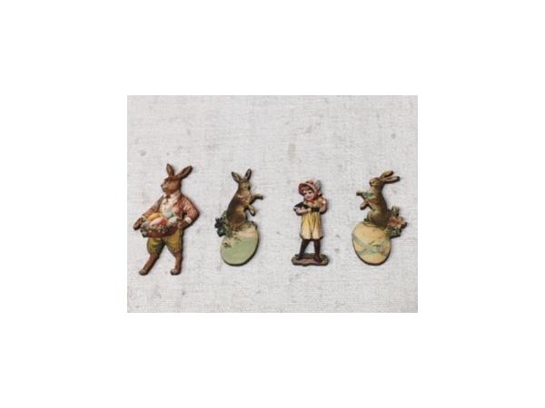 Pâques - Lot de 4 figurines