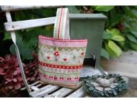 Petit sac rose et vert
