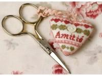 Coussin ciseaux coeur rose