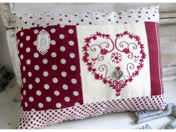 Coussin Coeur Traditionnel semi kit