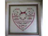 Coeur rose et vert