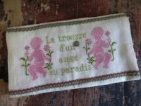Trousse ange au paradis rose et vert
