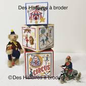 Nouveauté!!! Le Cirque Que vous trouvez dès maintenant sur le site. Il est décliné en 3 fiches : Grand cube, Moyen et Petit cube. Création en collaboration avec Véronique Enginger. #broderie #point de croix #crossstitching #pointcompté #veronique_enginger #cirque #lecirquebrodé #circusembrodery #circus  #kreuzstich #puntocruz #cube #cubebrodé