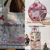 Les 3 nouveautés à retrouver sur www.deshistoiresabroder.com #broderiemain #kitoufiche #àbroderaupointdecroix # cartonnagebrodé # couture # ramgementtambouràbroder #sacàbroder #crosstitch