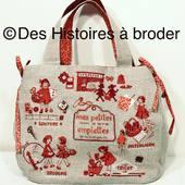 Pour vos emplettes!! Ce petit sac à broder. À offrir pour la fête des mères!!! Sur le site www.deshistoiresabroder.com #sacabroder #pointdecroix #kitbroderie #puntocruz #crossstitching #fetedesmeres #cadeaupourmaman #jaimebroder #mes petites emplettes #xstitching #embrodery #broderiemain# kreustich #france #puntocroce #tricot #patchworkbrode